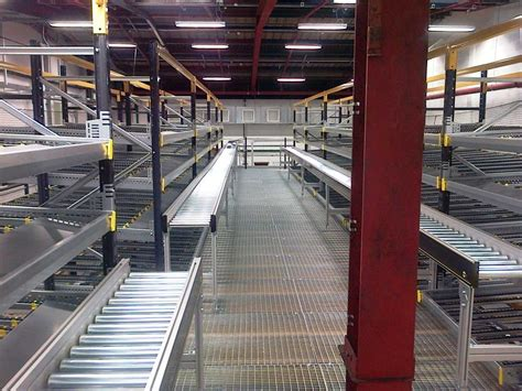 paint manufacturers two tier mezzanine picking and dispatch system