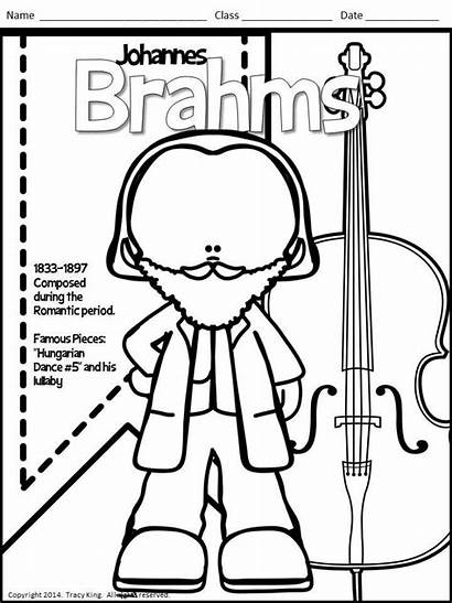 Coloring Composers Sheets Lady Board Bulletin Class
