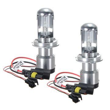 new hid hi low bi xenon set light bulbs 35w 12v h4 h4 2106