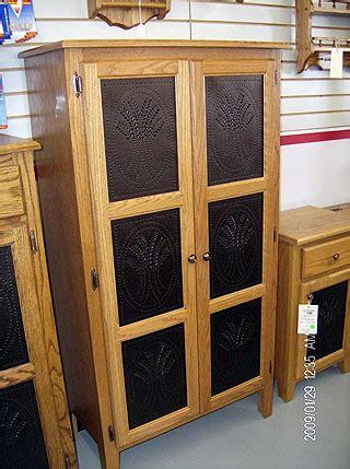 Baker?s Cabinet with tin imprint design ? Amish Custom