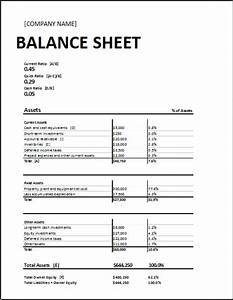 Free Printable and Blank Balance Sheet Template Samples ...