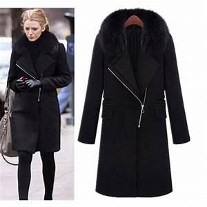 Manteau laine femme Achat / Vente pas cher Black