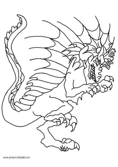 disegno da colorare wart il drago cat