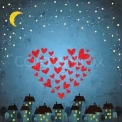 Night Sky Stars Heart