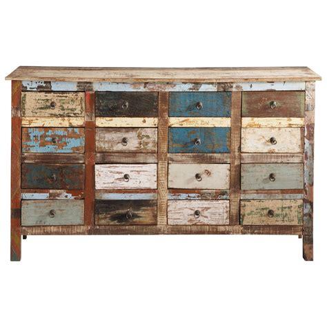 cassettiere maison du monde cassettiera multicolore in legno riciclato l 150 cm