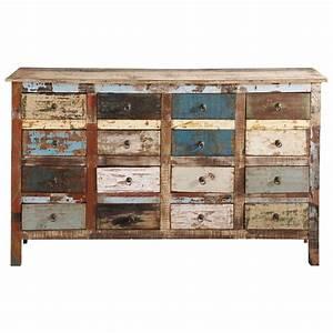Meuble Bar Maison Du Monde : comptoir en bois recycl multicolore l 150 cm calanque ~ Nature-et-papiers.com Idées de Décoration