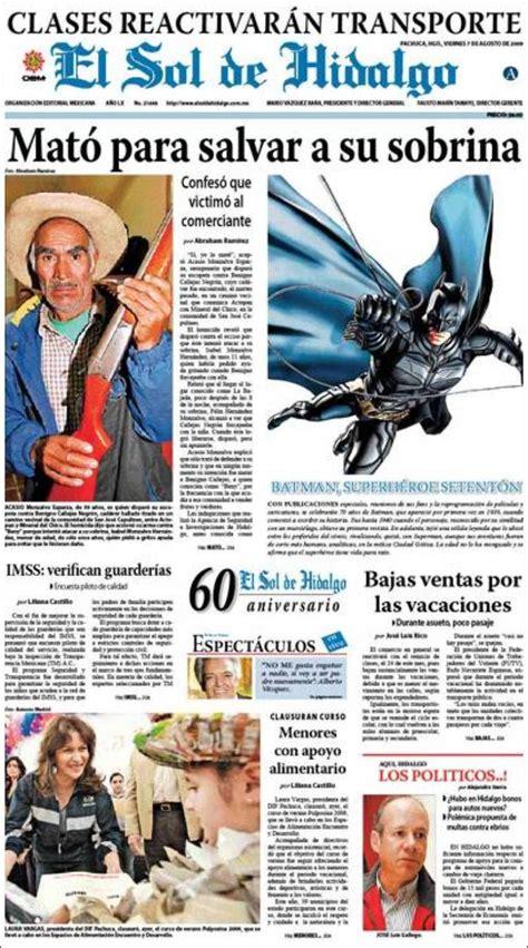 newspaper el sol de hidalgo mexico newspapers  mexico