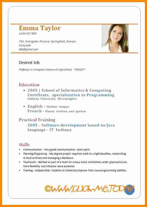 cv sample format  freshers theorynpractice