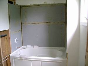 How To Install Hardiebacker Board Around Bathtub  taping and