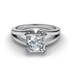 split shank halo engagement rings split shank princess cut solitaire engagement ring