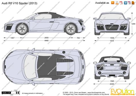 Audi R8 V10 Spyder vector drawing