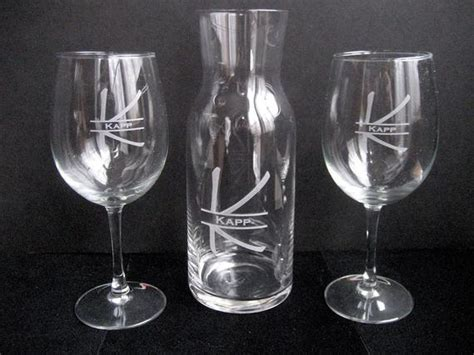 Wine Decanter Engraved Wine Glass Set Personalized Wine