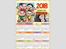 Montagem de fotos Calendário Calendário 2018 Turma da