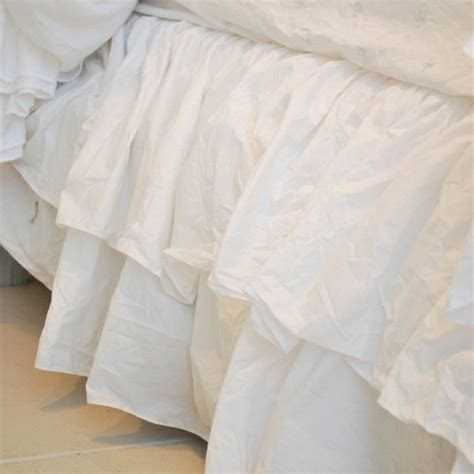 simply shabby chic bed skirt rachel ashwell shabby chic couture liliput double ruffle bedskirt