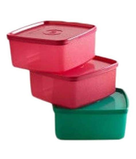 Buy Tupperware Medium Square Storage Container700 Ml(set