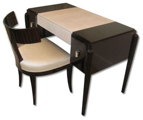 deco small desk make up table and chair eclectic