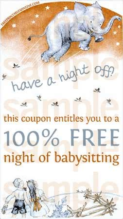night  babysitting voucher  printables