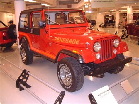 1986 Jeep CJ-7 Renegade Red fvr Garage (WPC Museum) F ...