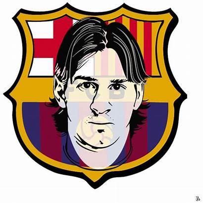 Messi Vector Clipart Barcelona Leo Fc Barca