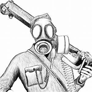 soldier with gasmask by sotaperuna on DeviantArt