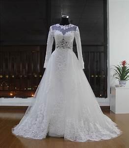 robe de mariage vestidos de novias 2016 lace long sleeve With corset pour robe de mariage
