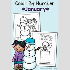 Color By Number Worksheets January!  Mamas Learning Corner