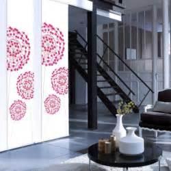 Rideau Panneau Japonais Pas Cher by Panneau Japonais Fleurs Digitales Rose H 250 X L 50 Cm