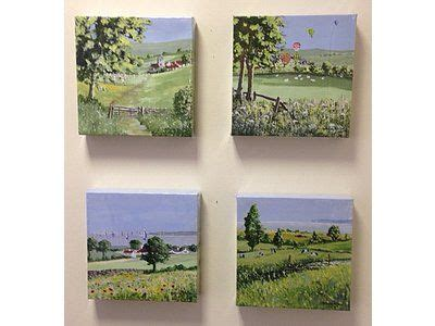 Four canvas prints in smaller depth (20mm) artist