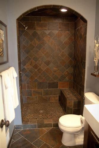slate bathroom ideas  pinterest slate tile