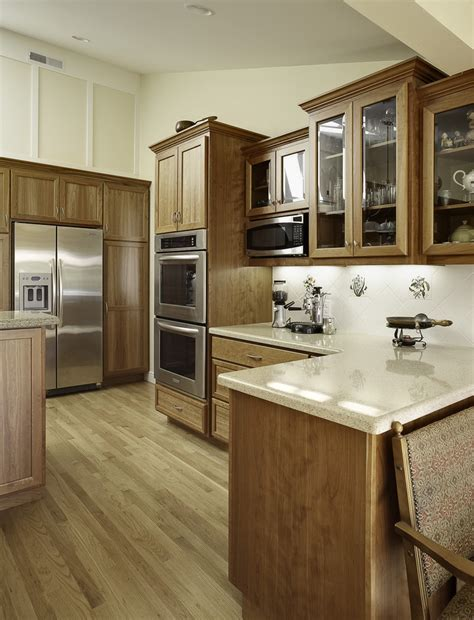 cabinet microwave oven kitchen traditional