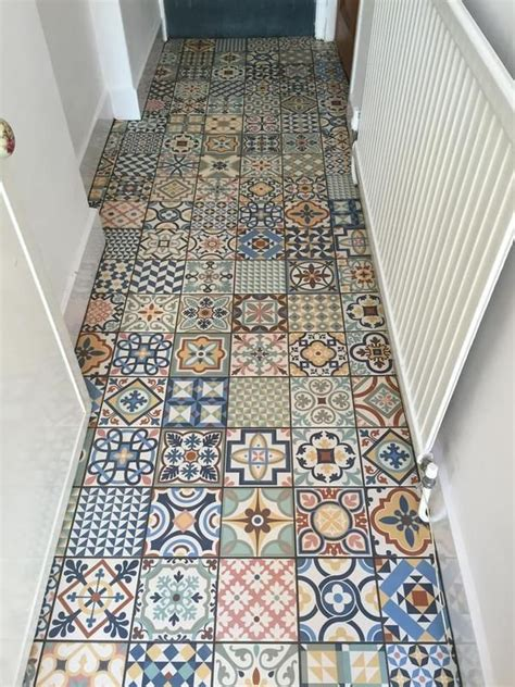 carrelage style ancien ciment heritage mix color  cm