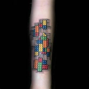 60 Lego Tattoo Designs For Men - Toy Building Block Ink Ideas