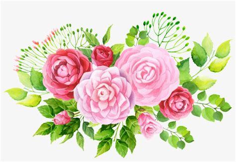 pintado  mano de tres variedades de flores png