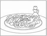 Coloring Salad Nutritioneducationstore Simpler sketch template