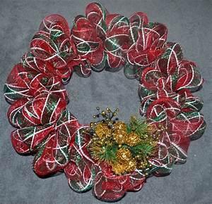Deco, Mesh, Christmas, Wreath, Tutorial