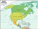 North America Map and Satellite Image