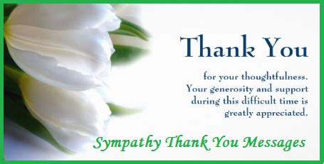 Thank You Messages/ Condolence Thank You Notes Wordings/ Thank You