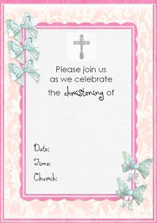 free printable baptism invitation template That are