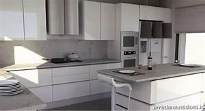Beautiful cucina bianca e nera colore pareti pictures for Cucina grigia colore pareti