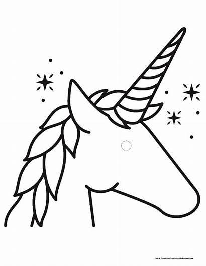Head Coloring Unicorn Templates Printable Pegasus Bathroom