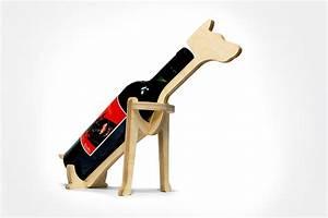Porte Bouteille De Vin : porte bouteille en bois chat ou chien le maestro blog ~ Dailycaller-alerts.com Idées de Décoration