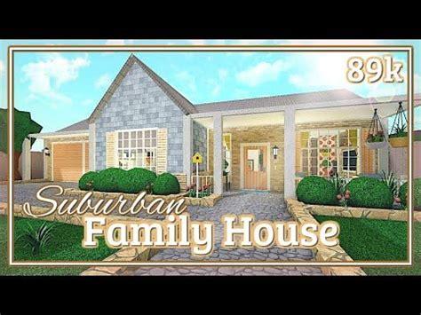 bloxburg suburban family house speed build youtube   bloxburg houses bloxburg house