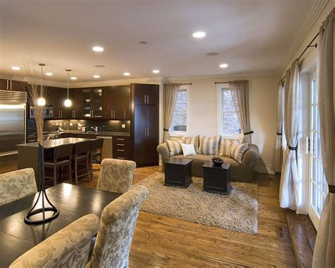 Living Room Kitchen Open by Open Kitchen And Living Room Sliding Glass Doors Opening