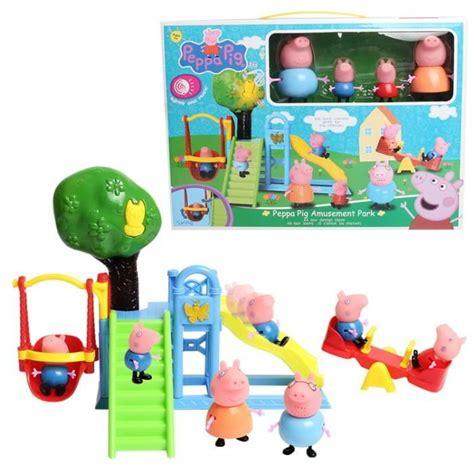 jeux de peppa pig cuisine eiffel fashion figurine peppa pig jouet lot de 4 les monticules d 39 enfant terrain de jeux gardon