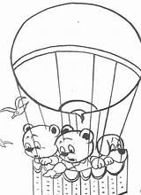 Balloon Coloring Air Printable sketch template