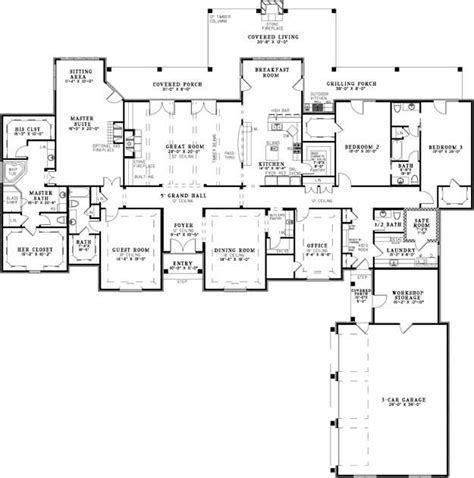 One Story House Plans With Large Kitchens by House Plans Home Plans And Floor Plans From Ultimate