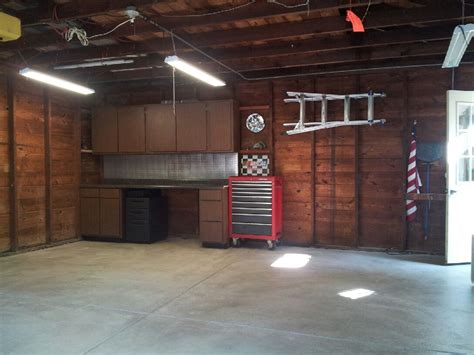 Garage Cabinets And Countertops by Our Garage After A New Floor Was Poured And A