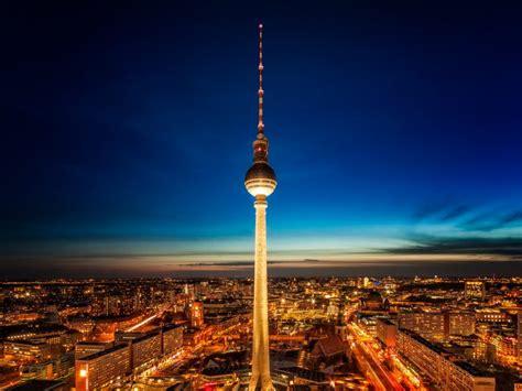 tv tower  night  park inn  radisson berlin