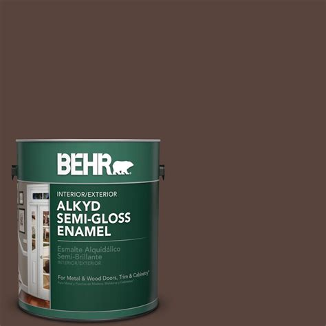 behr 1 gal s g 790 rug gloss enamel alkyd interior exterior paint 393001 the home