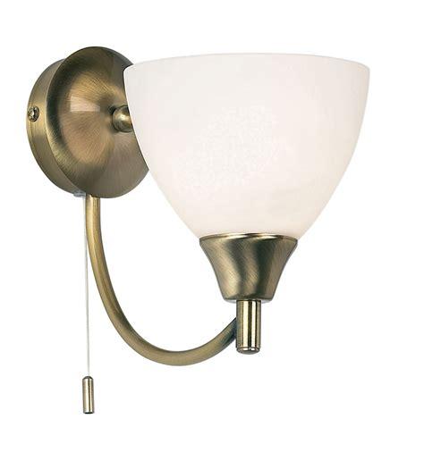 endon alton 1lt wall light 60w antique brass effect plate